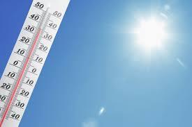 猛暑 温度計 太陽